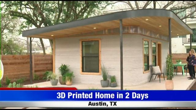 3D Printed Home in 2 Days   FOX 28 Spokane